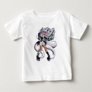 サイバーのKitsuneの女の子 ベビーTシャツ