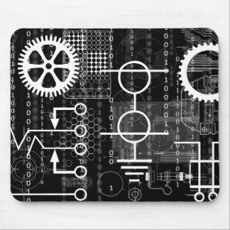 サイバーはコンピュータ・コードのギークエンジニアの数学の技術を連動させます マウスパッド