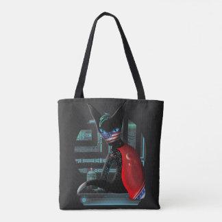 サイバーパンクの忍者猫 トートバッグ