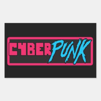 「サイバーパンク」の-光沢のあるステッカー 長方形シール