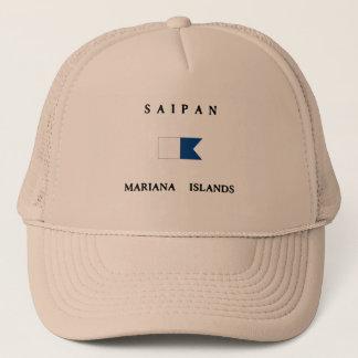 サイパンマリアナ諸島のアルファ飛び込みの旗 キャップ