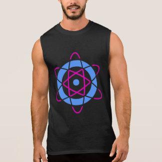 サイファイのギークレトロ原子の記号 袖なしシャツ