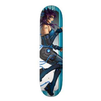 サイファイの日本製アニメの女の子 スケートボード