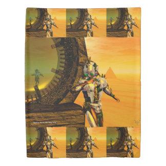 サイボーグのタイタン、砂漠HYPERIONの空想科学小説のサイエンスフィクション 掛け布団カバー