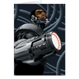 サイボーグ及び武器のバスト グリーティングカード
