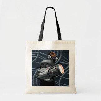 サイボーグ及び武器のバスト トートバッグ