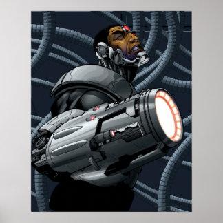 サイボーグ及び武器のバスト ポスター