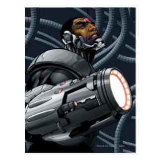 サイボーグ及び武器のバスト ポストカード
