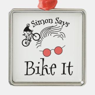 サイモンはバイクをそれ言います メタルオーナメント