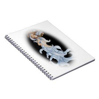 サイレンのコイの人魚のファンタジーの   芸術の螺線形ノート ノートブック