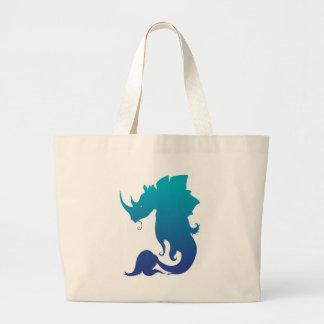 サイStego魚(水色彩の配合) ラージトートバッグ