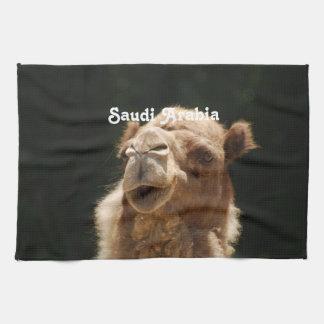 サウジアラビアのラクダ キッチンタオル