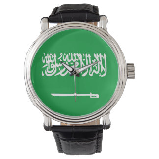 サウジアラビアの国旗の国家の記号 腕時計