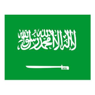 サウジアラビアの国旗の国家の記号 葉書き