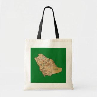 サウジアラビアの地図のバッグ トートバッグ