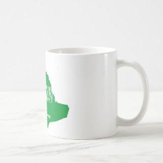 サウジアラビアの地図 コーヒーマグカップ