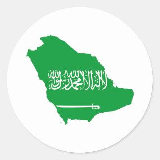 サウジアラビアの地図 ラウンドシール
