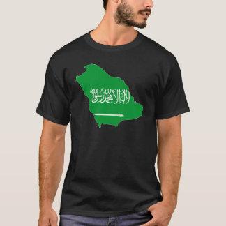 サウジアラビアの地図 Tシャツ