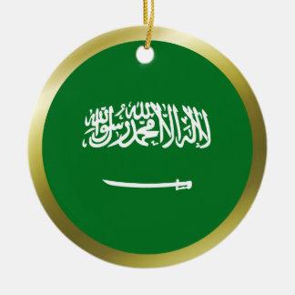 サウジアラビアの旗のオーナメント セラミックオーナメント