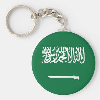 サウジアラビアの旗 ベーシック丸型缶キーホルダー