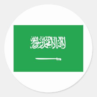 サウジアラビアの旗 ラウンドシール