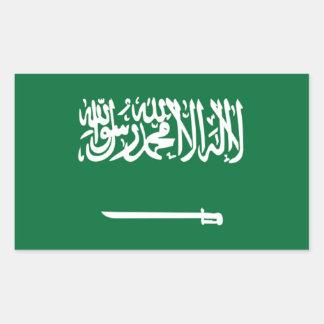 サウジアラビアの旗 長方形シール