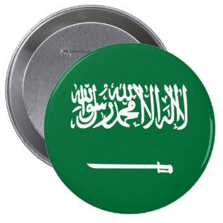 サウジアラビアの旗 10.2CM 丸型バッジ