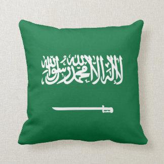 サウジアラビアの旗Xの旗の枕 クッション