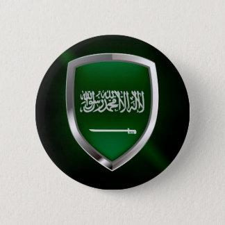 サウジアラビアの金属紋章 5.7CM 丸型バッジ