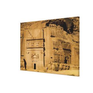 サウジアラビアのMadain Saleh、古代3の場所 キャンバスプリント