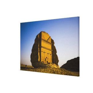 サウジアラビアのMadain Saleh、古代4の場所 キャンバスプリント
