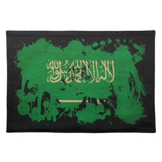 サウジアラビアは(ばちゃばちゃ)跳ねるのコピーを織りました ランチョンマット