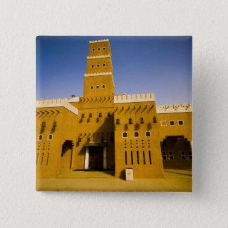 サウジアラビア、RiyadのAl Diriyaのモスク 5.1cm 正方形バッジ