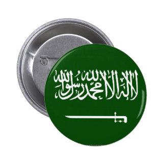 サウジ旗ボタン 5.7CM 丸型バッジ