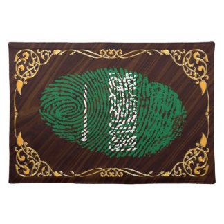 サウジtouchの指紋の旗 ランチョンマット