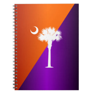 サウスカロライナのオレンジ及び紫色 ノートブック