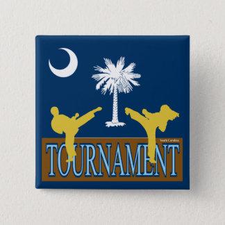 サウスカロライナのトーナメントPin 5.1cm 正方形バッジ