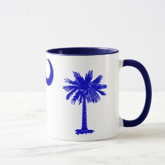 サウスカロライナのパルメットおよび三日月のマグ マグカップ