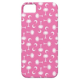 サウスカロライナのパルメットの月の旗のピンク iPhone SE/5/5s ケース