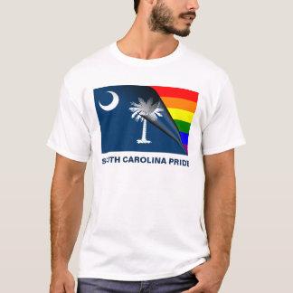 サウスカロライナのプライドLGBTの虹の旗 Tシャツ