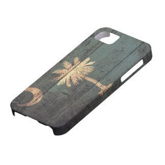 サウスカロライナの古い木の旗; iPhone SE/5/5s ケース