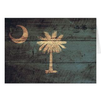 サウスカロライナの古い木製の旗; カード