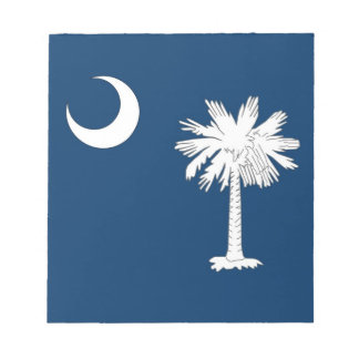 サウスカロライナの国家の旗が付いているメモ帳 ノートパッド