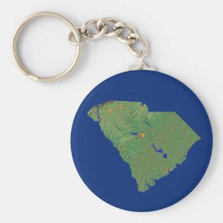 サウスカロライナの地図Keychain キーホルダー