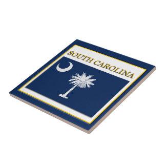 サウスカロライナの州の旗のデザインのタイル タイル