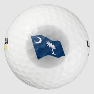 サウスカロライナの州の旗のロゴ ゴルフボール