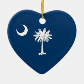 サウスカロライナの州の旗 セラミックオーナメント