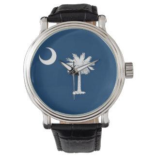 サウスカロライナの旗が付いている愛国心が強い腕時計 腕時計