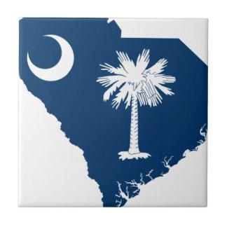 サウスカロライナの旗の地図 タイル
