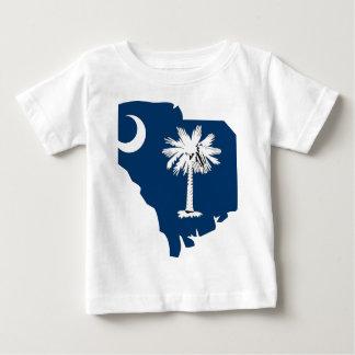 サウスカロライナの旗の地図 ベビーTシャツ